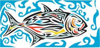 Giant Trevally Side Tribal Art Royalty Free Stock Image