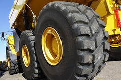 Giant truck and tires Royalty Free Stock Images