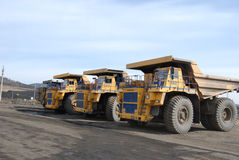 Giant trucks for coal transportation Royalty Free Stock Photos