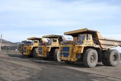 Giant trucks for coal transportation royalty free stock photos