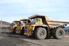 Giant trucks for coal transportation Royalty Free Stock Photography