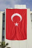 Giant  Turkey flag Royalty Free Stock Images