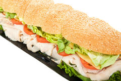 Giant Turkey Hoagie Stock Photos