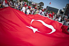 Giant Turkish Flag Stock Images