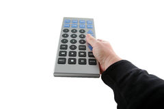 Giant tv remote control isolated on white Royalty Free Stock Image