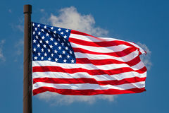 Giant US Flag Flies Royalty Free Stock Image