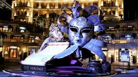 Giant Venetian mask stock footage