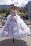 Canada Day celebrations parade at Whistler Village stock photos