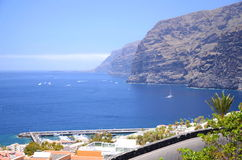 Giant volcanic Los Gigantes cliffs on Tenerife Royalty Free Stock Photo