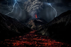 Giant Volcano Storm Royalty Free Stock Photography