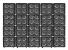 Giant Wall of Bass Speakers Stock Images