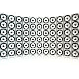 Giant wall of white speakers Royalty Free Stock Photos