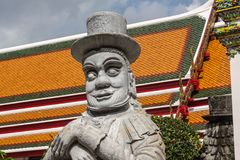 Giant Wat Pho in Bangkok Thailand. Giant is in Wat Pho that is a sculpture at the entrance to the temple or the tetrahedron. In the literature of Ramayana Stock Images