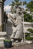 Giant Wat Pho Bangkok Thailand. Giant Wat Pho Is a sculpture at the entrance to the temple or the tetrahedron. In the literature of Ramayana Royalty Free Stock Photography