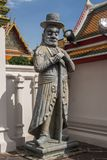 Giant Wat Pho in Bangkok Thailand. Giant is in Wat Pho that is a sculpture at the entrance to the temple or the tetrahedron. In the literature of Ramayana Stock Photography