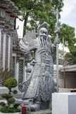 Giant Wat Pho in Bangkok Thailand. Giant Wat Pho Is a sculpture at the entrance to the temple or the tetrahedron. In the literature of Ramayana Stock Photo