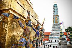 Giant in Wat Phra Kaeo, The Royal Grand Palace - Bangkok, Thailand. Giant in Wat Phra Kaeo, The Royal Grand Palace - Bangkok, from thailand royalty free stock photos