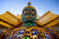 Giant at Wat Phra Kaew, Bangkok. Royalty Free Stock Photo