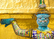 Giant at wat phra kaew Royalty Free Stock Image