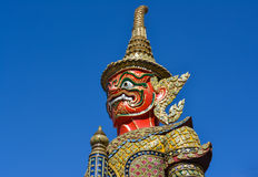 Giant wat phra kaew of thailand Royalty Free Stock Photo
