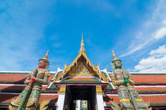 Giant in Wat Phra Kaew. Two giant stand in front of the gate in the Wat Phra Kaew, Bangkok, Thailand Royalty Free Stock Photography