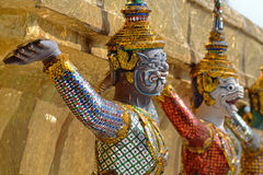 Giant Wat Pra Kaeo Temple, Thailand Stock Photos
