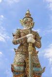 Giant Wat Pra Kaew Thailand. Demon guardian at Wat Pra Kaew Stock Images