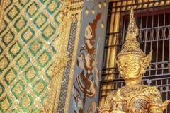 Giant Wat Pra Kaew Thailand. Demon guardian at Wat Pra Kaew royalty free stock photography