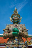 The giant in Wat Pra Kaew, Thailand Royalty Free Stock Photography