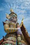 The giant in Wat Pra Kaew, Thailand Royalty Free Stock Images