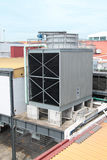 Giant water-cooled air conditional outdoor unit. Concept of industrial ventilation royalty free stock photos