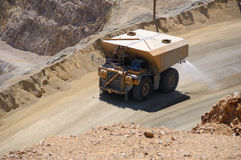 Giant Water Truck Suppressing Dust Stock Photos