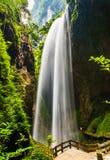 Giant Waterfalls in Longshuixia Fissure, Wulong, China Royalty Free Stock Image