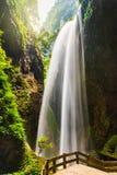 Giant Waterfalls in Longshuixia Fissure, Wulong, China Stock Photos