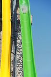 Giant waterslide in bulgaria. Waterslide with a brave man Royalty Free Stock Images