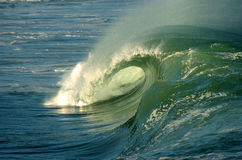 Giant wave. Crashing down in shallow waters of hawaii Royalty Free Stock Photo