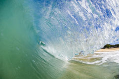 Giant wave. Breaking in shallow waters Stock Photography