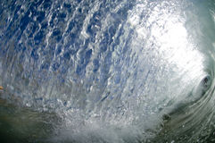 Giant wave. Breaking in shallow waters Stock Photos