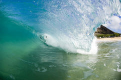 Giant wave. Breaking in shallow waters Royalty Free Stock Photography