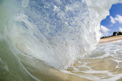 Giant wave. Breaking in shallow waters Royalty Free Stock Photo