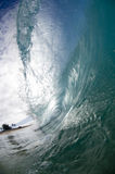 Giant wave. Breaking in shallow waters Stock Images