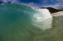 Giant wave. Breaking in shallow waters Royalty Free Stock Image