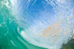 Giant wave. Breaking in shallow waters Royalty Free Stock Images