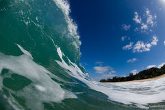 Giant wave. A giant wave breaking the sea water on the north shore line of Oahu, popular for surf Royalty Free Stock Photos