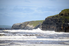 Giant waves and cliffs on the wild atlantic way Stock Photo