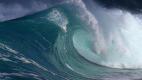Giant waves. In the ocean