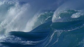 Giant waves. In the ocean stock footage