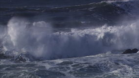Giant waves stock video