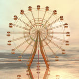 Giant wheel. Digital visualization of a giant wheel Stock Photos