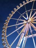 Giant Wheel. A giant wheel at an amusement park in Hamburg at night royalty free stock image